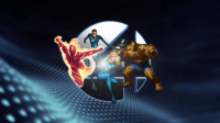 Reed Richards, Johnny Storm, Sue Storm, The Thing from Kyle Labarbera