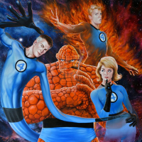 Reed Richards, Johnny Storm, Sue Storm, The Thing from Fred & Ian