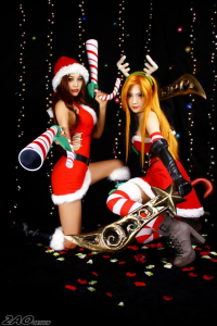 Miyuko Cosplayer as Katarina, Unknown Female Artist as Miss Fortune