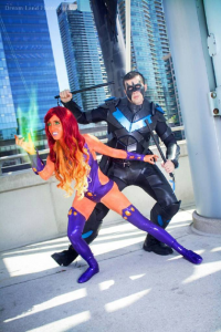 Unknown Male Artist as Nightwing, Ray Grey Cosplay as Starfire
