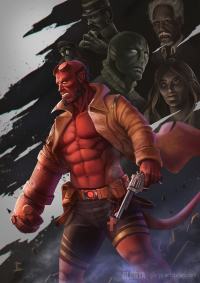 Hellboy from Glorya Art