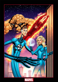 Reed Richards, Johnny Storm, Sue Storm, The Thing from Joel D.  Poischen