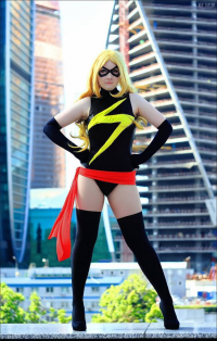 Claire Esther as Ms. Marvel