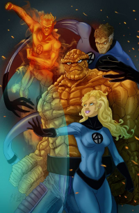 Reed Richards, Johnny Storm, Sue Storm, The Thing from Kiley Beecher