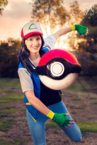 Lufia Iris Cosplay as Ash Ketchum