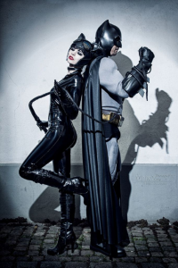Blossom Of Faelivrin as Batman, Ironmarkprops as Catwoman
