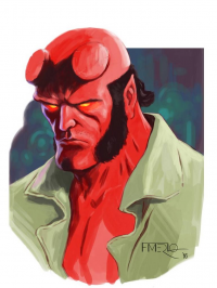 Hellboy from Fernando Merlo