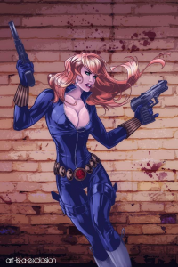 Black Widow from Art-is-a-explosion