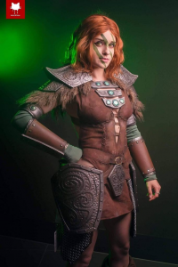 Astrokerrie Cosplay as Aela the Huntress