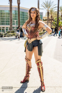 Unknown Female Artist as Wonder Woman