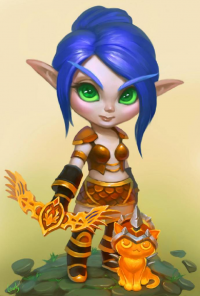 Blood Elf/Hunter from lowly-owly