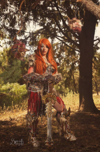 Elwing Art And Cosplay as Barbarian