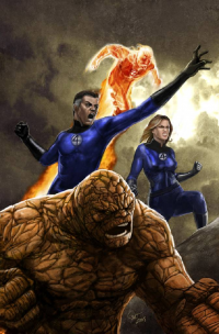 Reed Richards, Johnny Storm, Sue Storm, The Thing from Diego P Galindo
