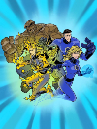 Reed Richards, Johnny Storm, Sue Storm, The Thing from dmonkey1000