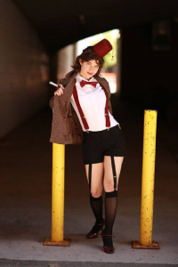 Dame Lovely Melody Cosplayer/Model as 11th Doctor