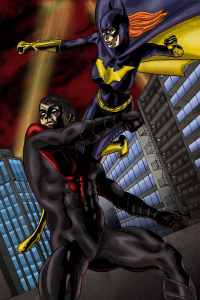 Batgirl, Nightwing from Marc Ouellette