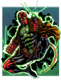 Green Lantern/Hellboy from Rodrigo Martins dos Santos