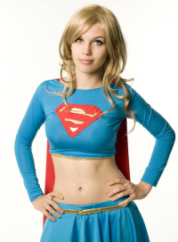 Bad Luck Kitty as Supergirl