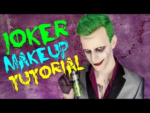 Suicide Squad Joker Makeup Tutorial by Broseph David